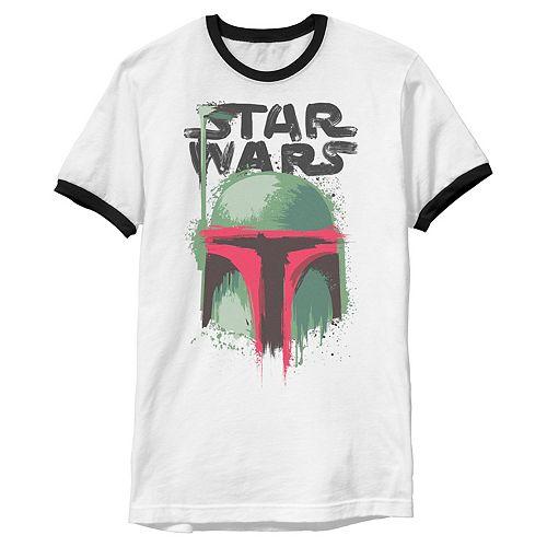 Men's Star Wars Boba Fett Paint Splatter Graphic Tee
