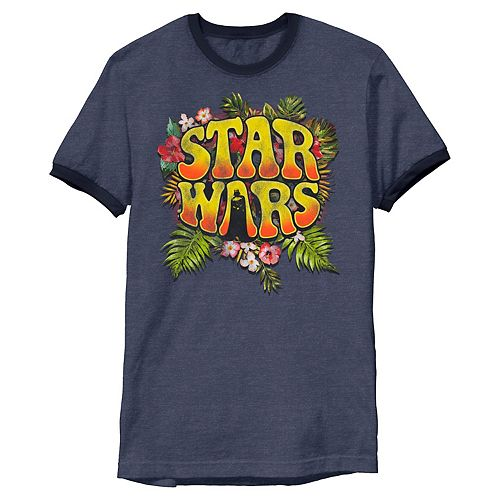 Men's Star Wars Darth Vader Floral Hippy Logo Graphic Tee