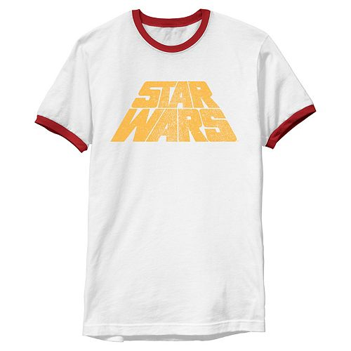 Men's Star Wars Classic Original Retro Slant Logo Vintage Graphic Tee