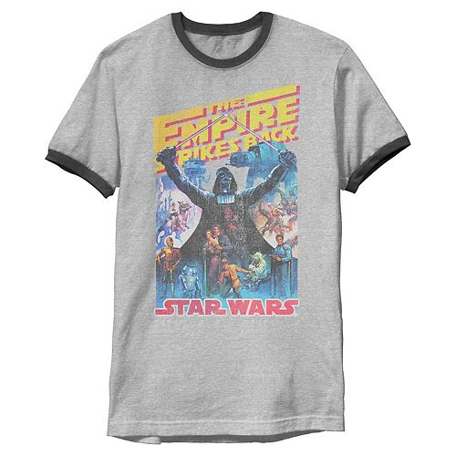 Men's Star Wars Vintage Empire Strikes Back Faded Poster Graphic Tee