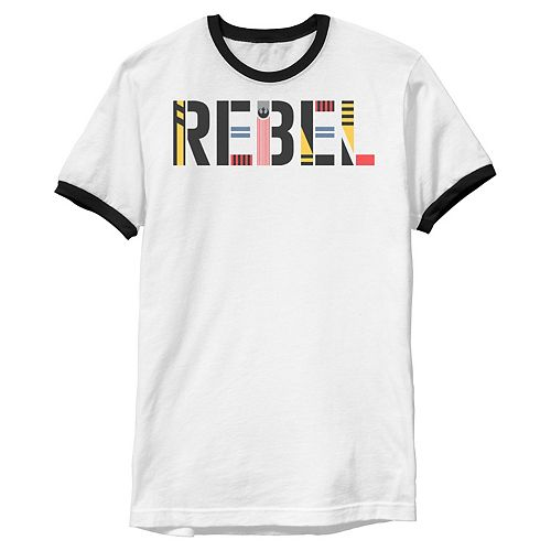 Men's Star Wars: The Rise of Skywalker Rebel Text Graphic Tee