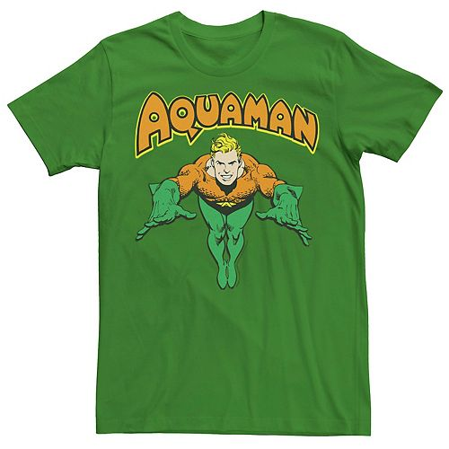 Men's DC Comics Aquaman Vintage Portrait Logo Tee