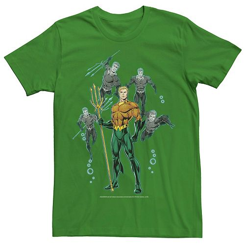 Men's DC Comics Aquaman Poses Vintage Poster Tee