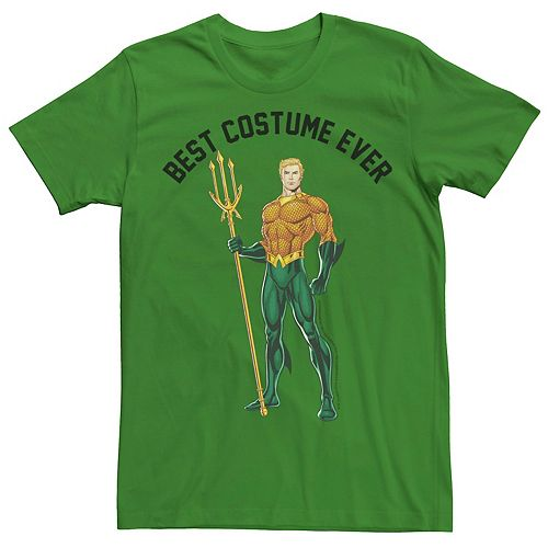 Men's DC Comics Aquaman Best Costume Ever Text Poster Tee