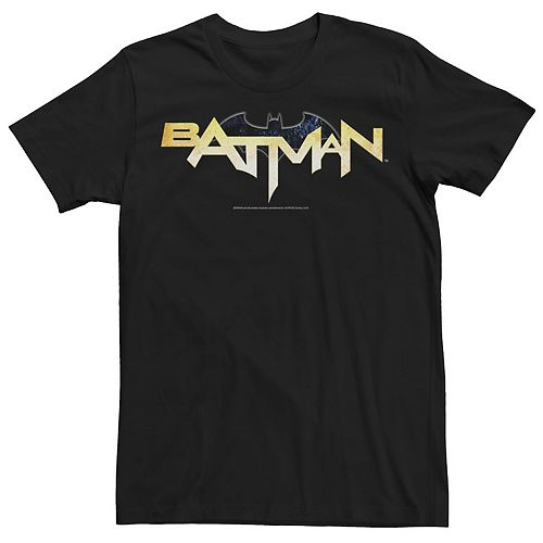 Men's DC Comics Batman Modern Chest Text Logo Tee