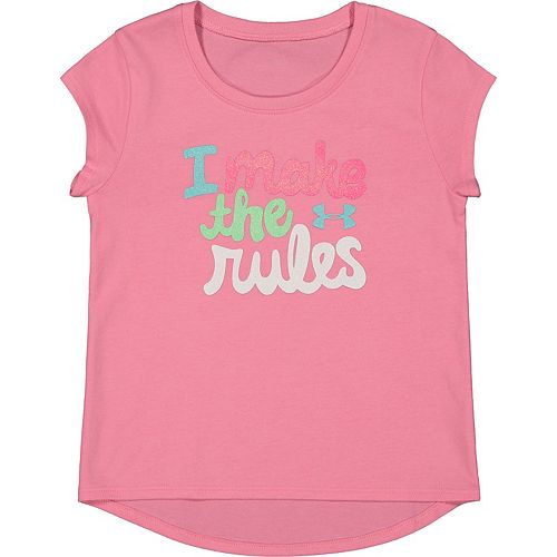 Toddler Girl Under Armour I Make The Rules Tee