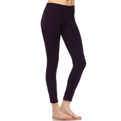 Women's White Mark Solid Leggings
