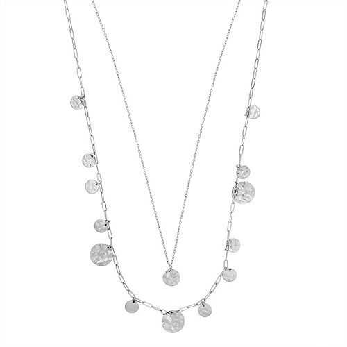 SONOMA Goods for Life™ Hammered Discs Layered Necklace