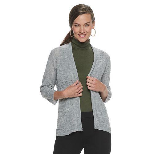Women's Croft & Barrow® Peplum Open-Front Cardigan