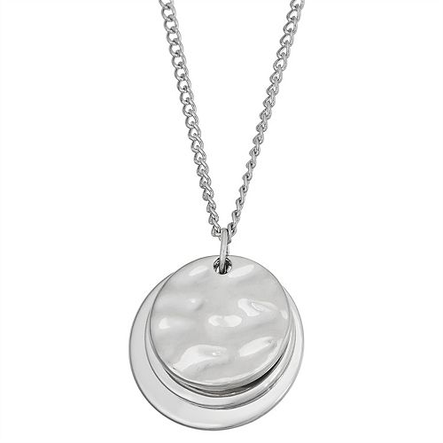SONOMA Goods for Life™ Layered Hammered Disc Pendants Necklace