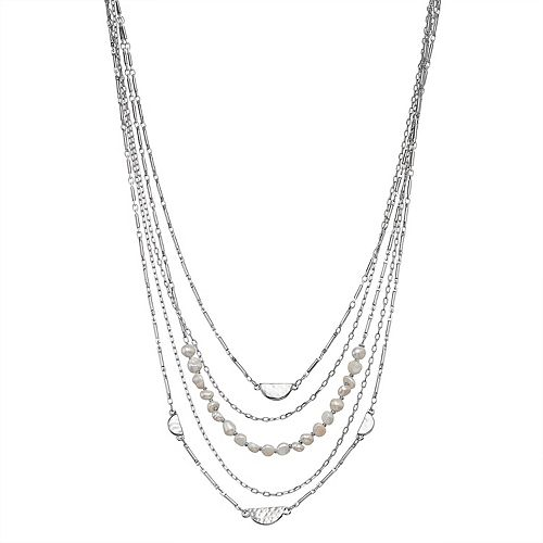 SONOMA Goods for Life™ Silver Tone Simulated Pearl Layered Necklace