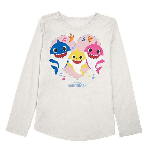 Girls 4-12 Jumping Beans® Baby Shark Hearth Tee