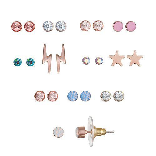 LC Lauren Conrad Star & Lightning Bolt Nickel Free Stud Earring Set