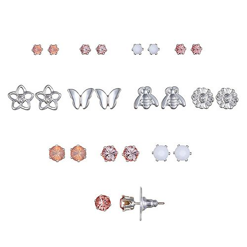 LC Lauren Conrad Bee & Butterfly Nickel Free Stud Earring Set