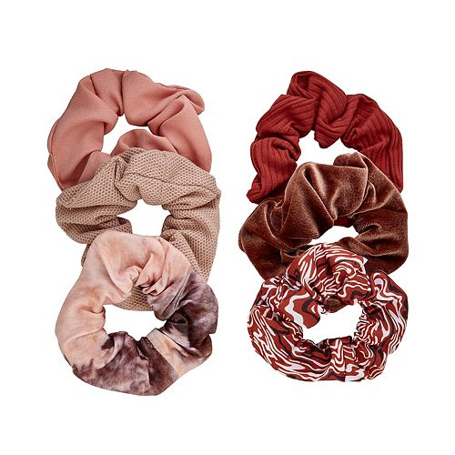 SO® Rust & Neutral Colored Scrunchie Set