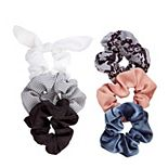 SO® Snakeskin Print & Solid Scrunchie Set