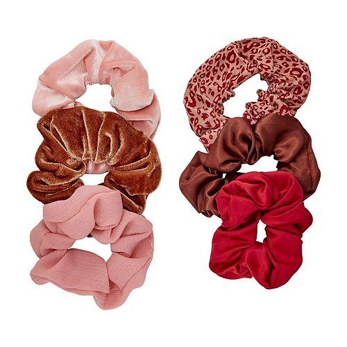 SO® Leopard Pink & Reds Scrunchie Set