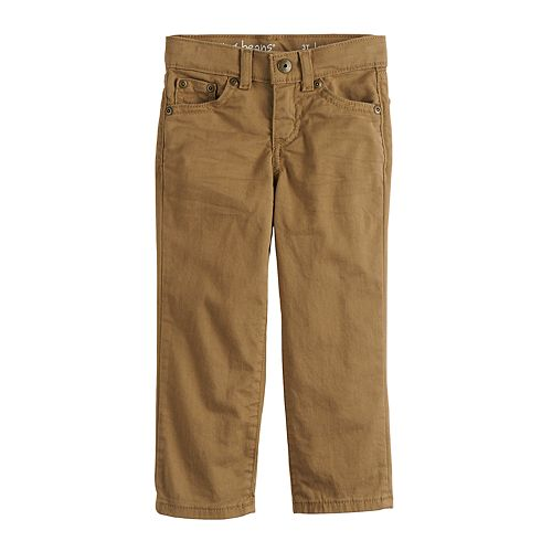 Toddler Boy Jumping Beans® Twill Straight Fit Jeans