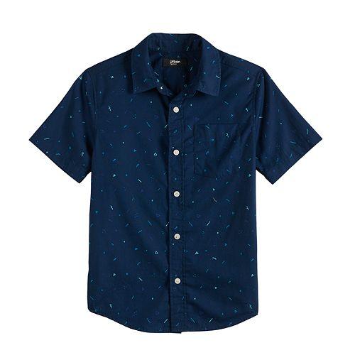 Boys 8-20 & Husky Urban Pipeline™ Short Sleeve Button Down Shirt