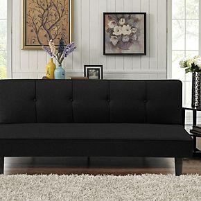 Serta 3-Seat Convertible Futon Sofa