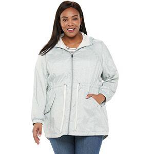 Plus Size Free Country Windshear Hooded Anorak Jacket