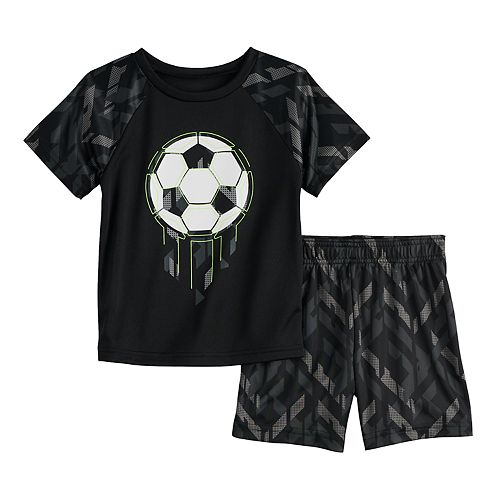 Toddler Boy Jumping Beans® Soccer Active Tee & Shorts Set
