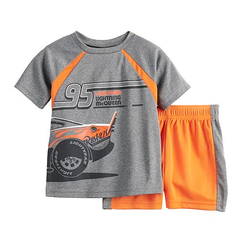 Disney / Pixar Cars Baby Boy Lightning McQueen Tee & Shorts Set by Jumping Beans®