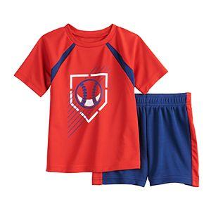 Baby Boy Jumping Beans® Baseball Raglan Tee & Shorts Active Set