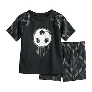 Baby Boy Jumping Beans® Soccer Raglan Tee & Shorts Active Set