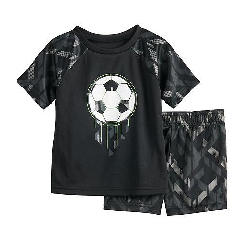 Baby Boy Jumping Beans® Soccer Raglan Tee & Shorts Active Set