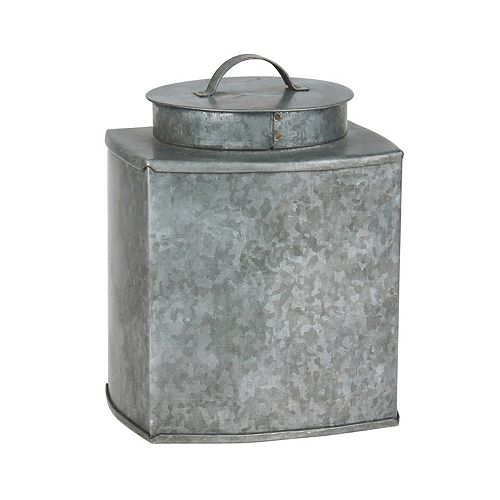 Galvanized Square Metal Container with Lid