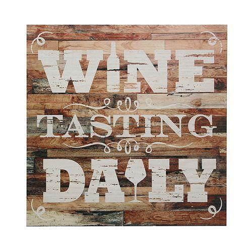 Rustic Wine Tasting Daily Decorative Wall Decor