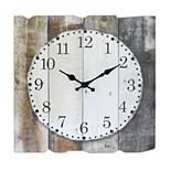 "Square 15"" Rustic Farmhouse Worn Wood Wall Clock"