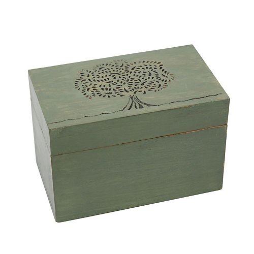 Rustic Wooden Tea Box