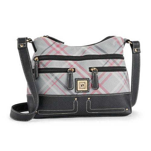 Stone & Company Plaid Leather Shoulder Bag