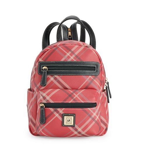 Stone & Company Plaid Mini Backpack