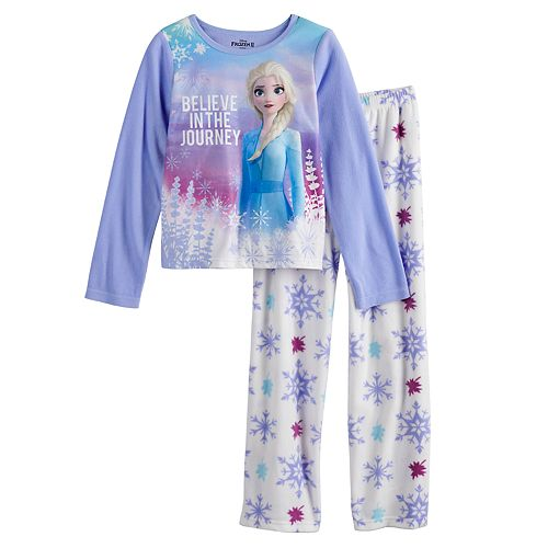 Girls 4-10 Disney's Frozen 2 Elsa Fleece Top & Bottom Pajama Set