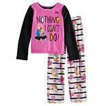 Girls 4-10 JoJo Siwa Fleece Top & Bottom Pajama Set