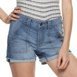 Juniors' SO® Low Rise Denim Porkchop Pocket Shorts