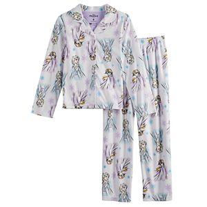Girls 4-10 Disney's Frozen 2 Button-Up Pajama Set