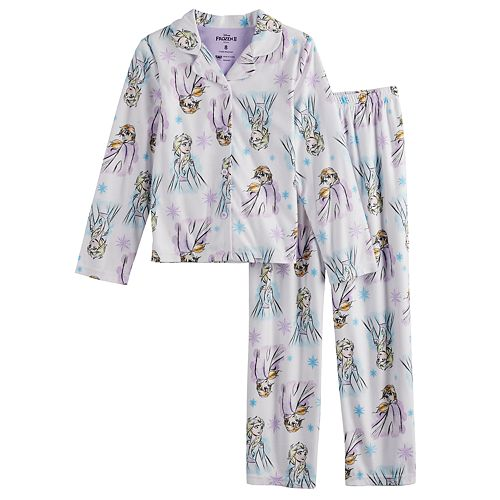 Girls 4-10 Disney's Frozen 2 Button-Up Pajama Set