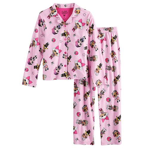 Girls 6-12 L.O.L. Surprise! Button-Up Pajama Set