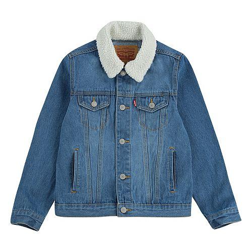 Boys 8-20 Levi's® Sherpa Trim Denim Trucker Jacket