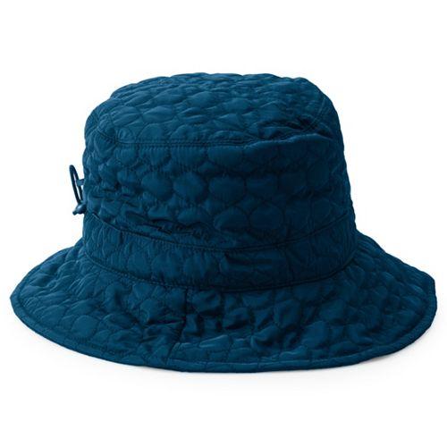 Women's Scala Quilted Big Brim Rain Hat