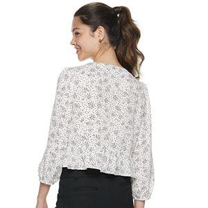 Juniors' Candie's® Soft Ruffled Sleeve Top