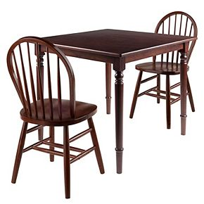 Winsome Mornay 3-Piece Dining Table & Windsor Chairs Set