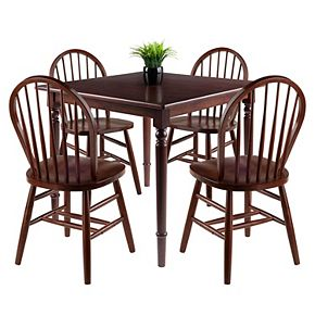 Winsome Mornay 5-Pc Dining Table Set with Windsor Chairs