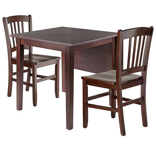 Winsome Perrone 3-Piece Drop Leaf Dining Table & Chairs Set