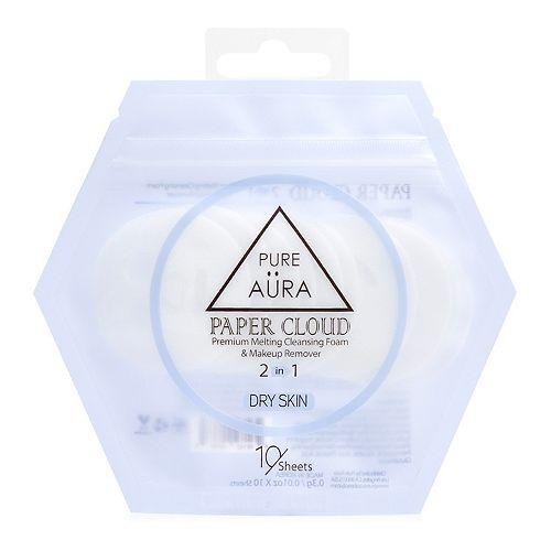 Pure Aura Paper Cloud Dry Skin Cleansing Foam & Makeup Remover