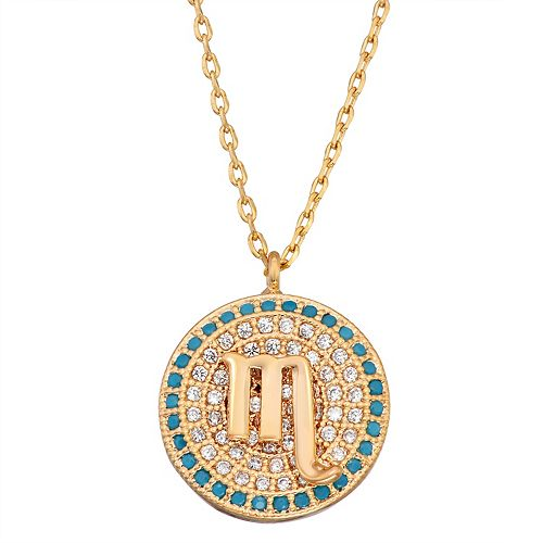 In the Stars Cubic Zirconia Zodiac Pendant Necklace